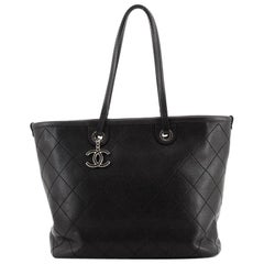 Chanel Fever Tote Quilted Caviar Medium