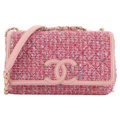 Chanel Filigree Flap Bag Quilted Tweed Medium