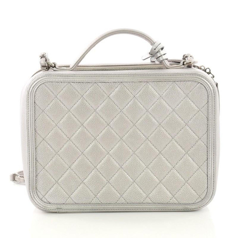 fab314010499 Chanel Filigree Vanity Case Quilted Caviar Medium at 1stdibs