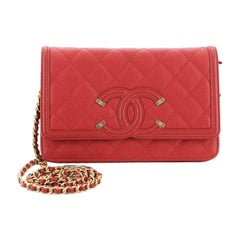 Chanel Filigree Wallet On Chain Quilted Caviar