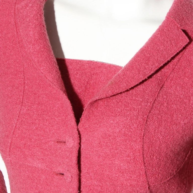 Pink Chanel Fitted Wool Blazer (Karl Lagerfeld) For Sale