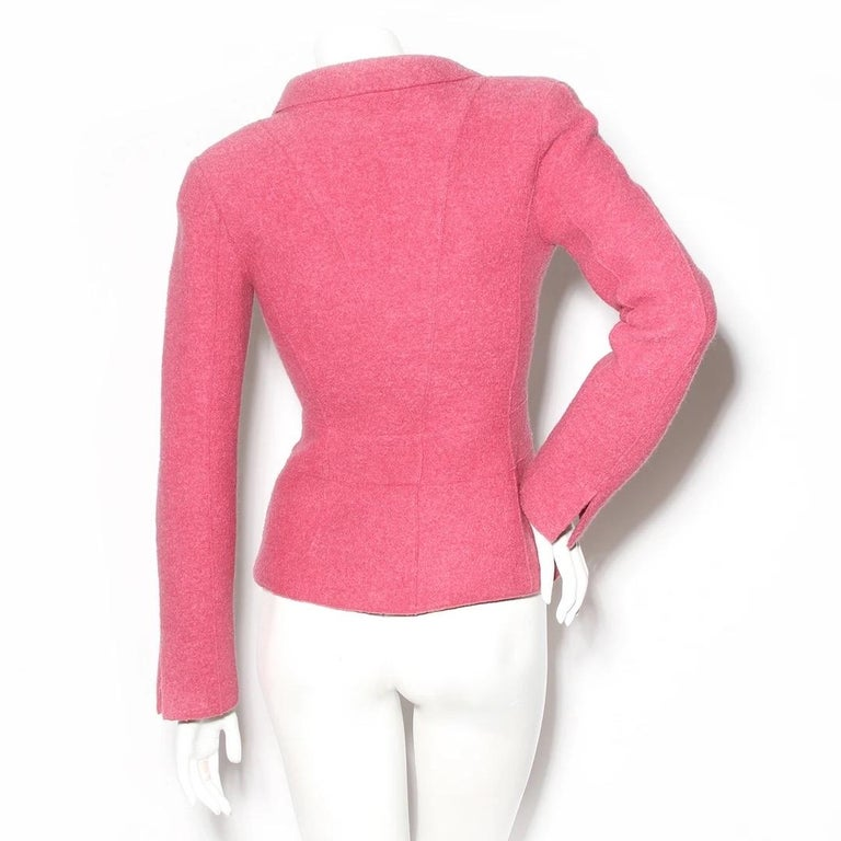 Chanel Fitted Wool Blazer (Karl Lagerfeld) In Good Condition For Sale In Los Angeles, CA