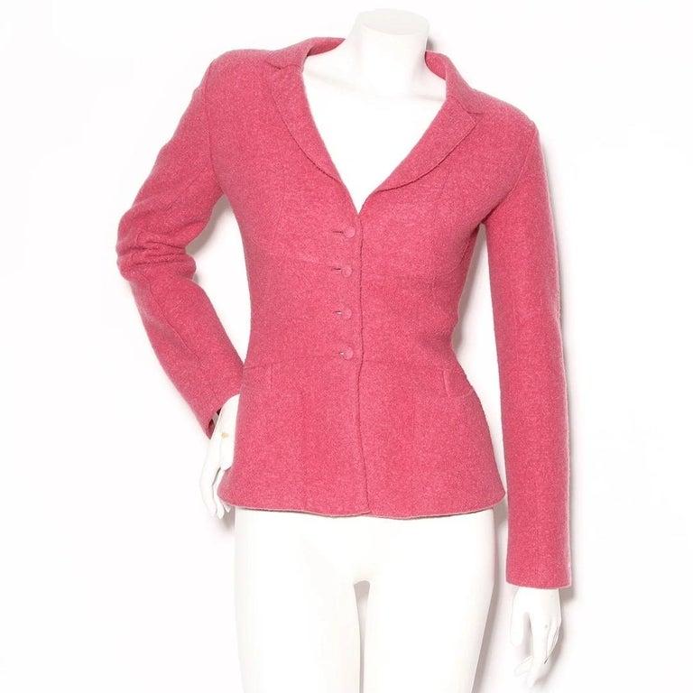 Women's Chanel Fitted Wool Blazer (Karl Lagerfeld) For Sale