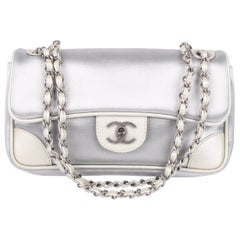 Chanel Flap Bag - silver
