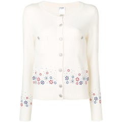 Chanel Floral Detail Knit Cardigan