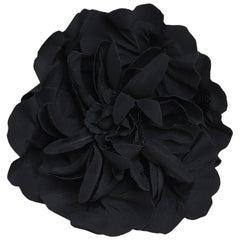 Chanel Floral Silk-Chiffon Brooch