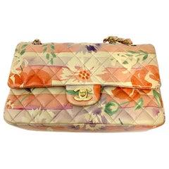 Chanel Floral Watercolor Double Flap Bag