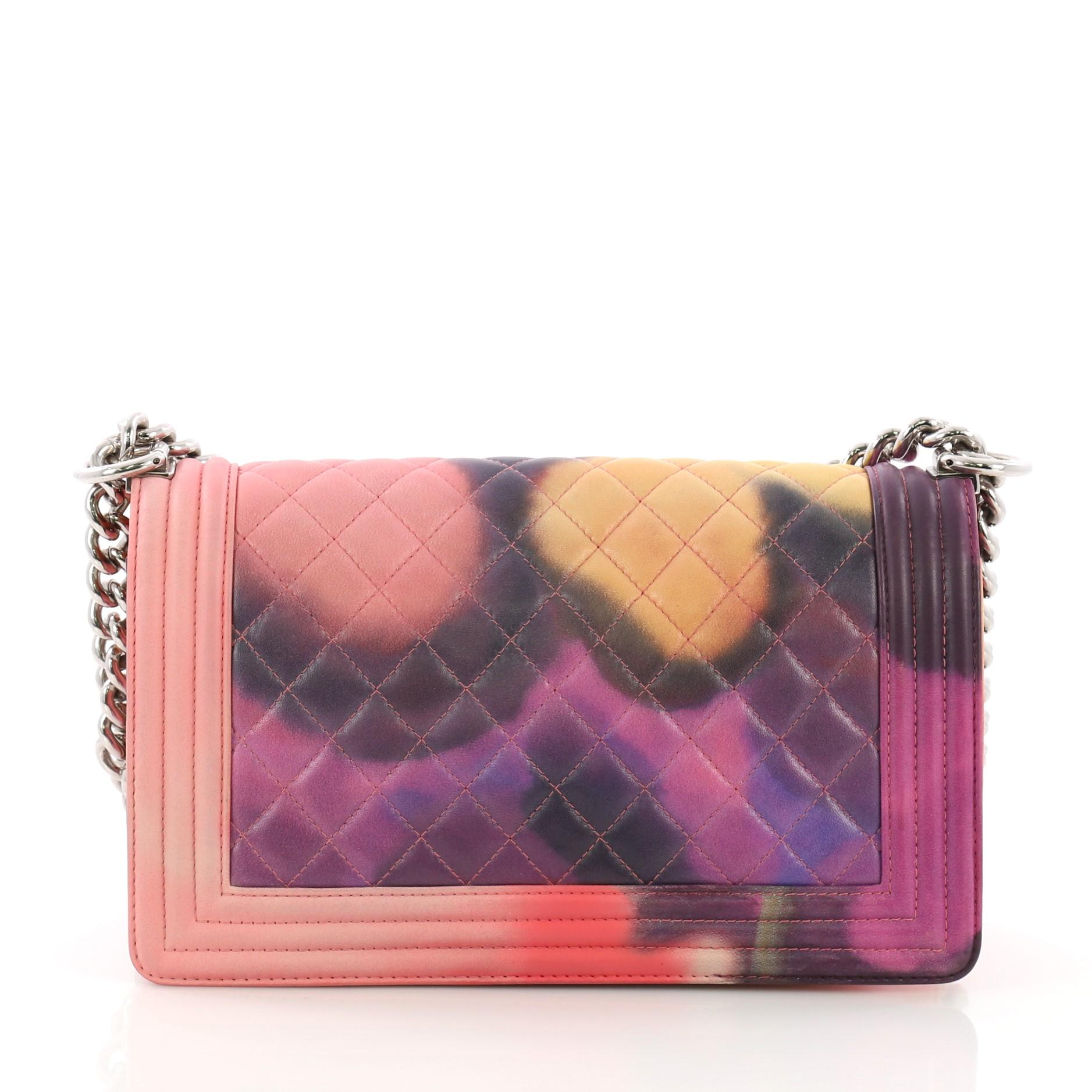 c8144bc71b5b19 Chanel Flower Power Boy Flap Bag Quilted Lambskin Old Medium For Sale at  1stdibs