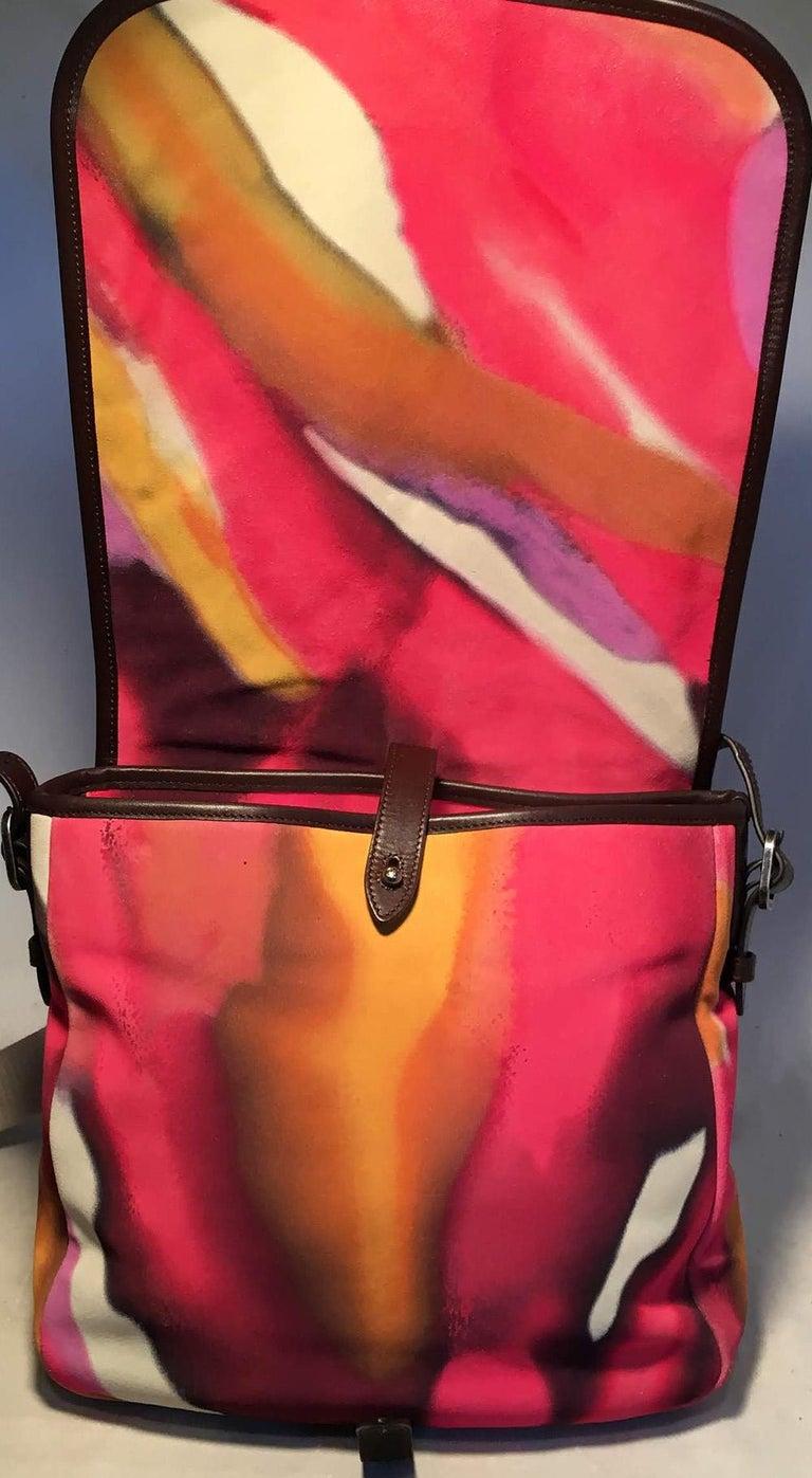 Chanel Flower Power Messenger Multicolor Nubuck Crossbody Shoulder Bag For Sale 2