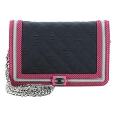 Chanel Fluo Boy Wallet on Chain Quilted Canvas