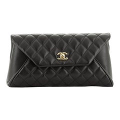 Chanel Fold Up Again Clutch Quilted Lambskin