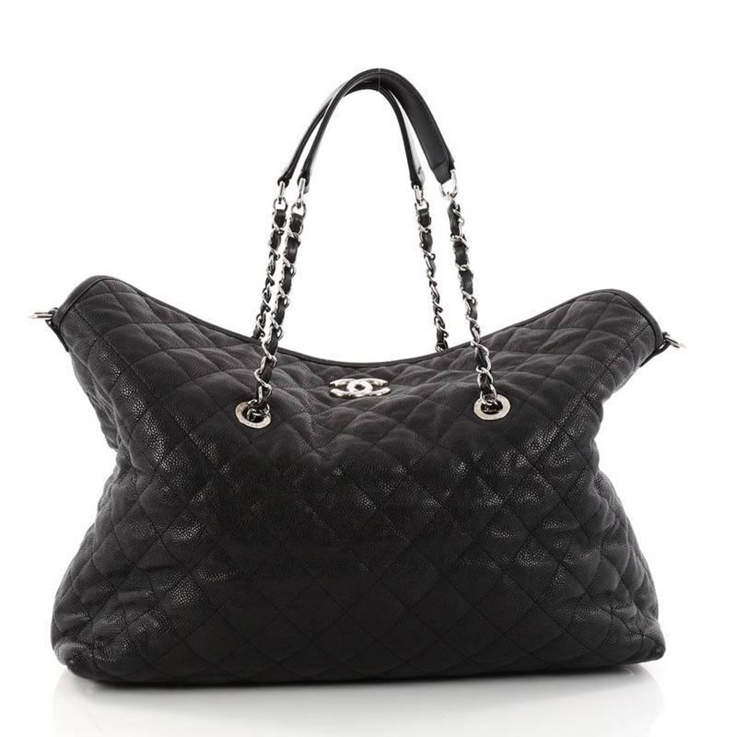 ca29d4404ec3 Chanel French Riviera Fold Tote Quilted Caviar Large at 1stdibs