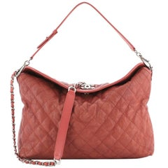 Chanel French Riviera Hobo Quilted Caviar Large