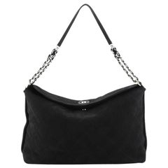 Chanel French Riviera Hobo Quilted Nubuck Large