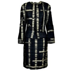 Chanel Fringed Lesage Metallic Fantasy Tweed Skirt Suit