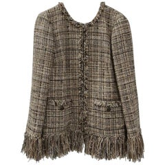 Chanel Fringed  Lesage Tweed Jacket