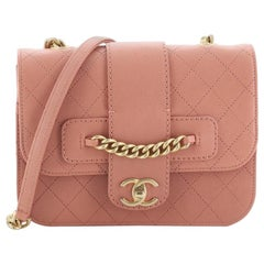 Chanel Front Chain Flap Bag Quilted Sheepskin Medium