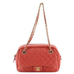 Chanel Front Pocket Camera Bag Quilted Lambskin Medium
