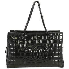 Chanel Frozen Zip Shoulder Bag Quilted Vinyl Large