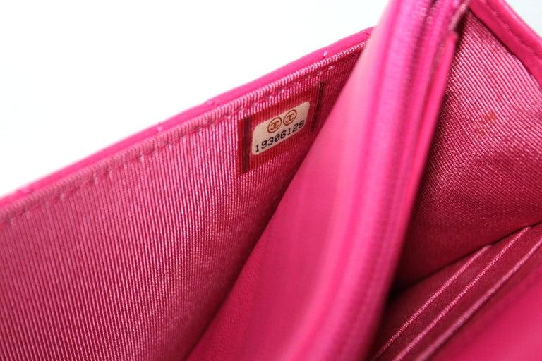 Chanel Fuchsia Leather Woc Bag For Sale 1