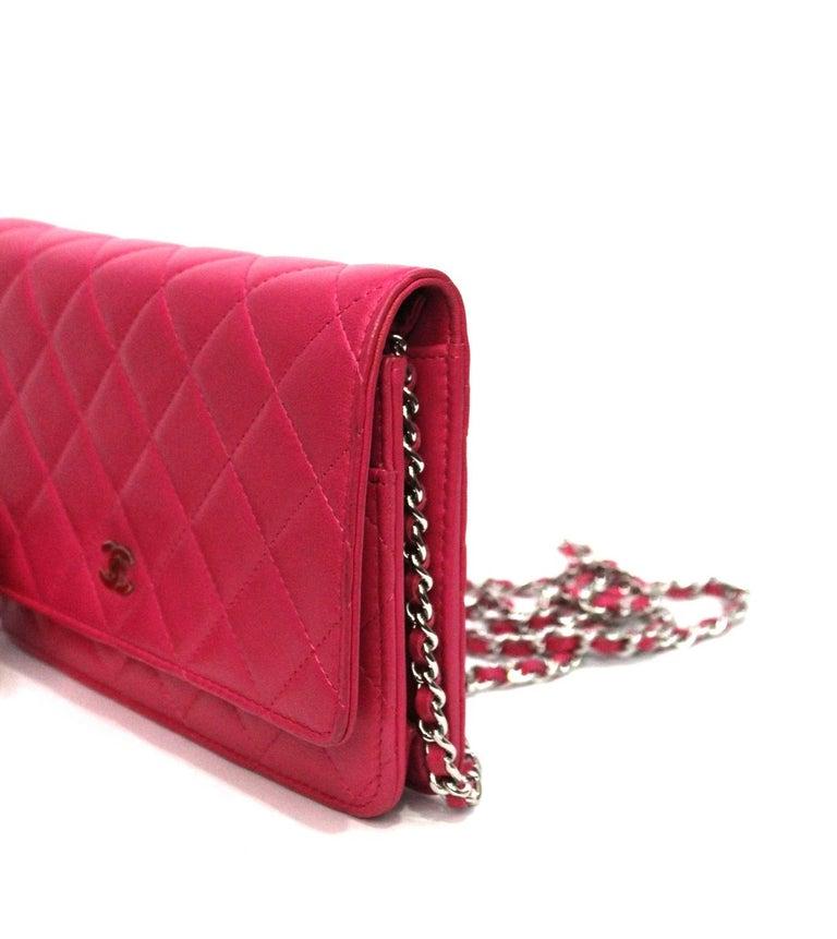 Chanel Fuchsia Leather Woc Bag For Sale 2