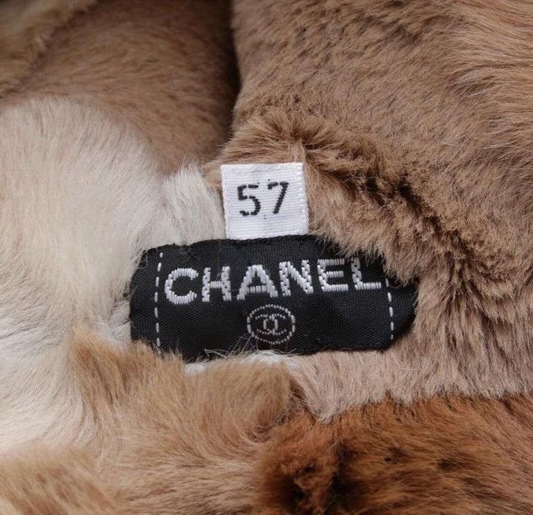 Women's or Men's Chanel fur cap For Sale