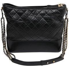 CHANEL Gabrielle Black Lambskin Bag
