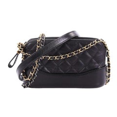 e21dc8f0cc58 Chanel Gabrielle Double Zip Clutch with Chain Quilted Aged Calfskin
