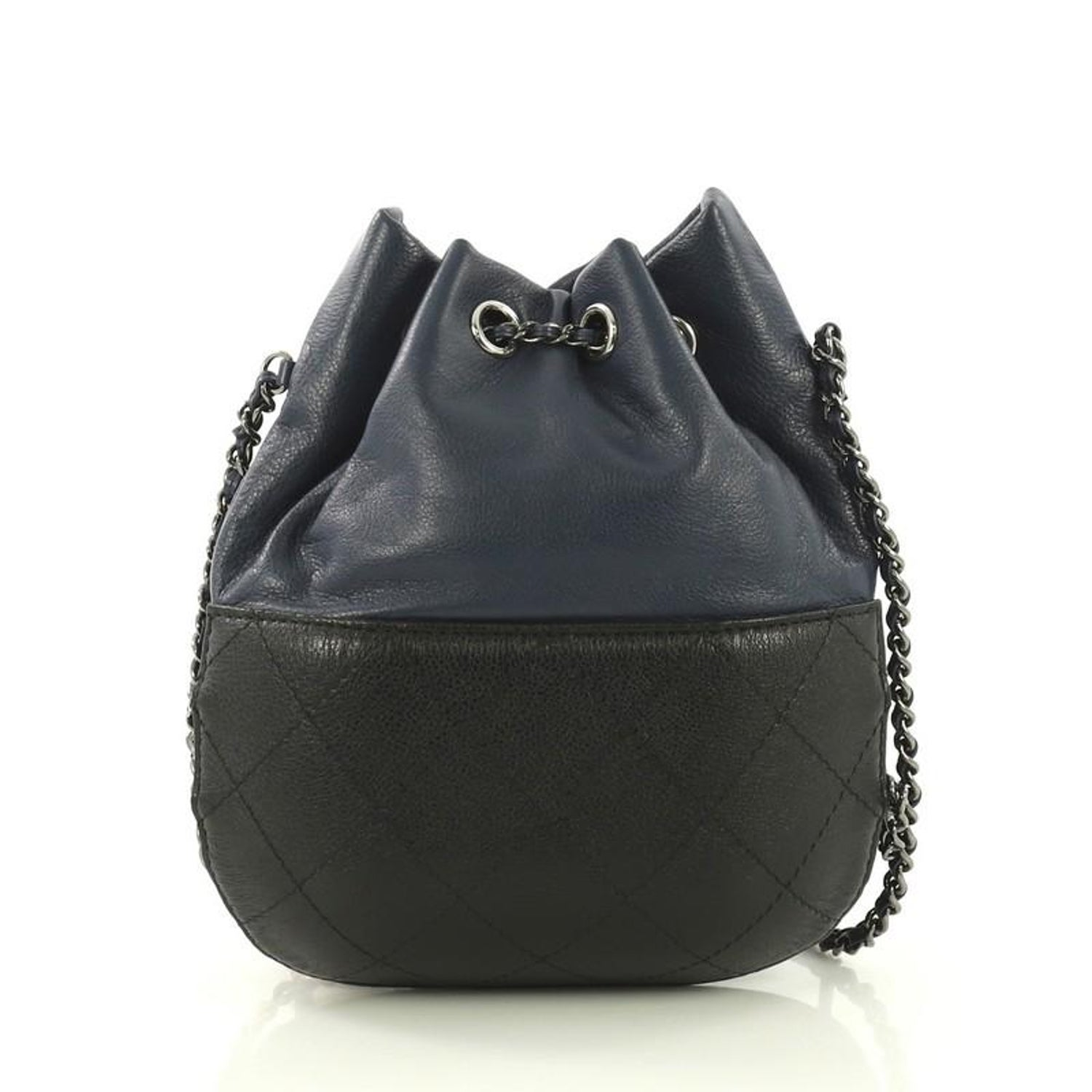 f991989e4dc4 Chanel Gabrielle Drawstring Bag Quilted Calfskin Small, For Sale at 1stdibs