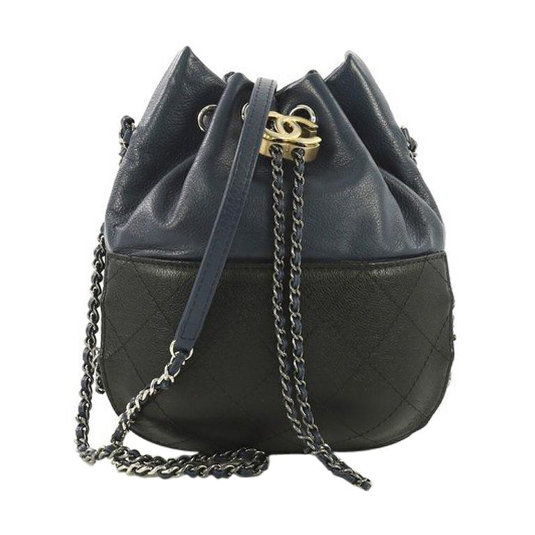 09e9993f2fd3 This Chanel Gabrielle Drawstring Bag Quilted Calfskin Small, crafted in  blue and black quilted calfskin