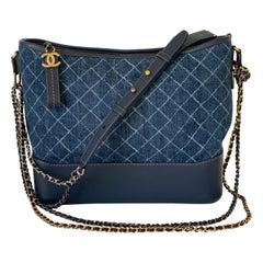 Chanel Gabrielle Hobo Denim Handbag Bag