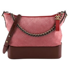 Chanel Gabrielle Hobo Quilted Suede Large