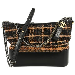 Chanel Gabrielle Hobo Quilted Tweed and Calfskin Medium