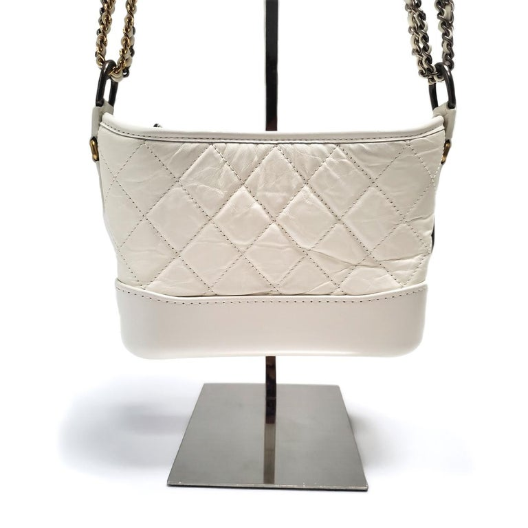 Beige Chanel Gabrielle Ivory Quilted Hobo Bag For Sale