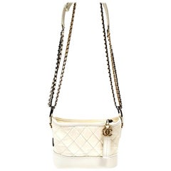 Chanel Gabrielle Ivory Quilted Hobo Bag