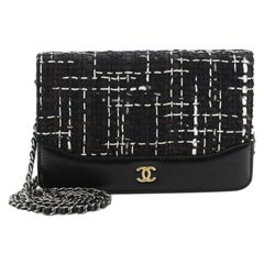 Chanel Gabrielle Wallet on Chain Tweed with Leather