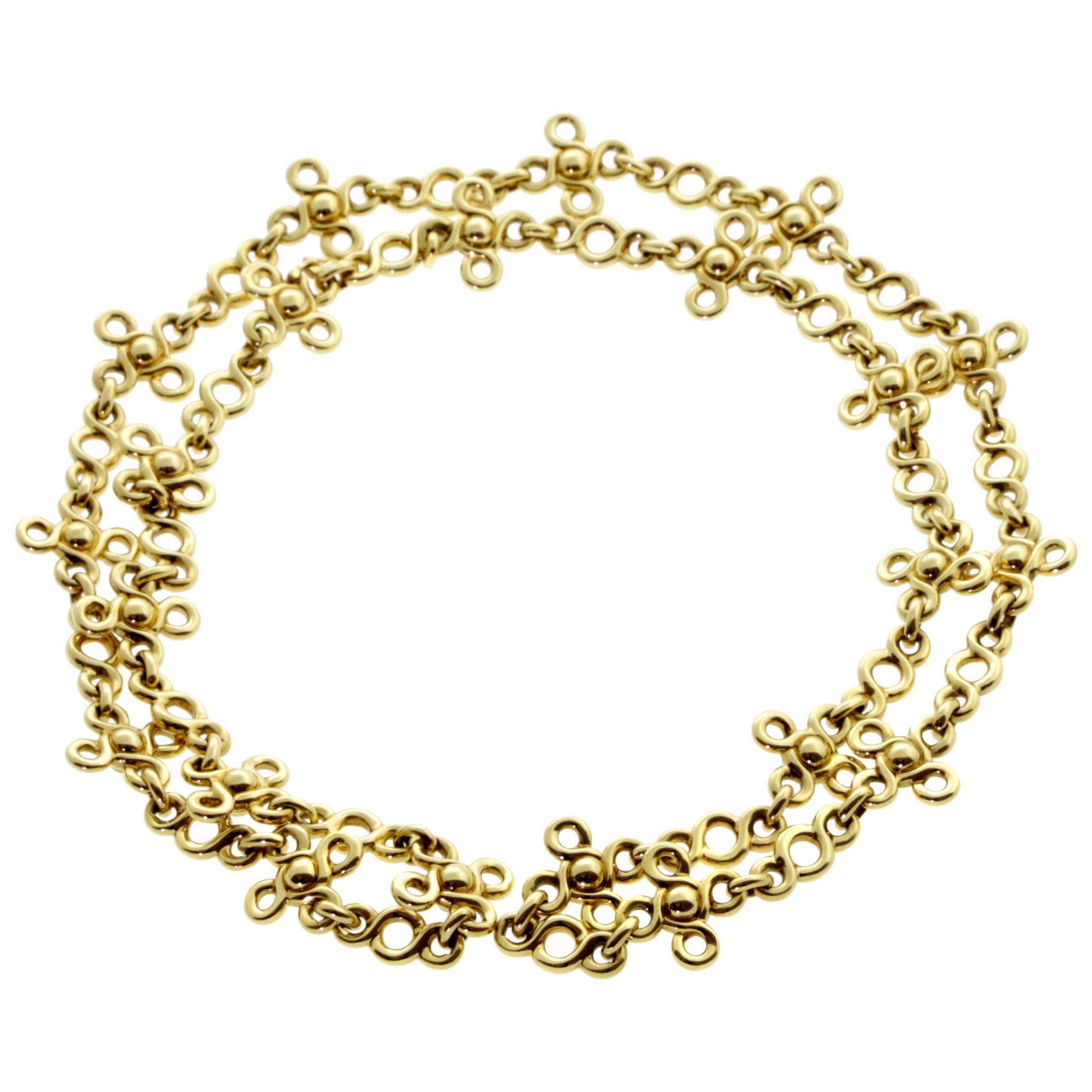 Chanel Gemstone Gold Sautoir Necklace