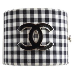Chanel 2011 Gingham Resin CC Cuff