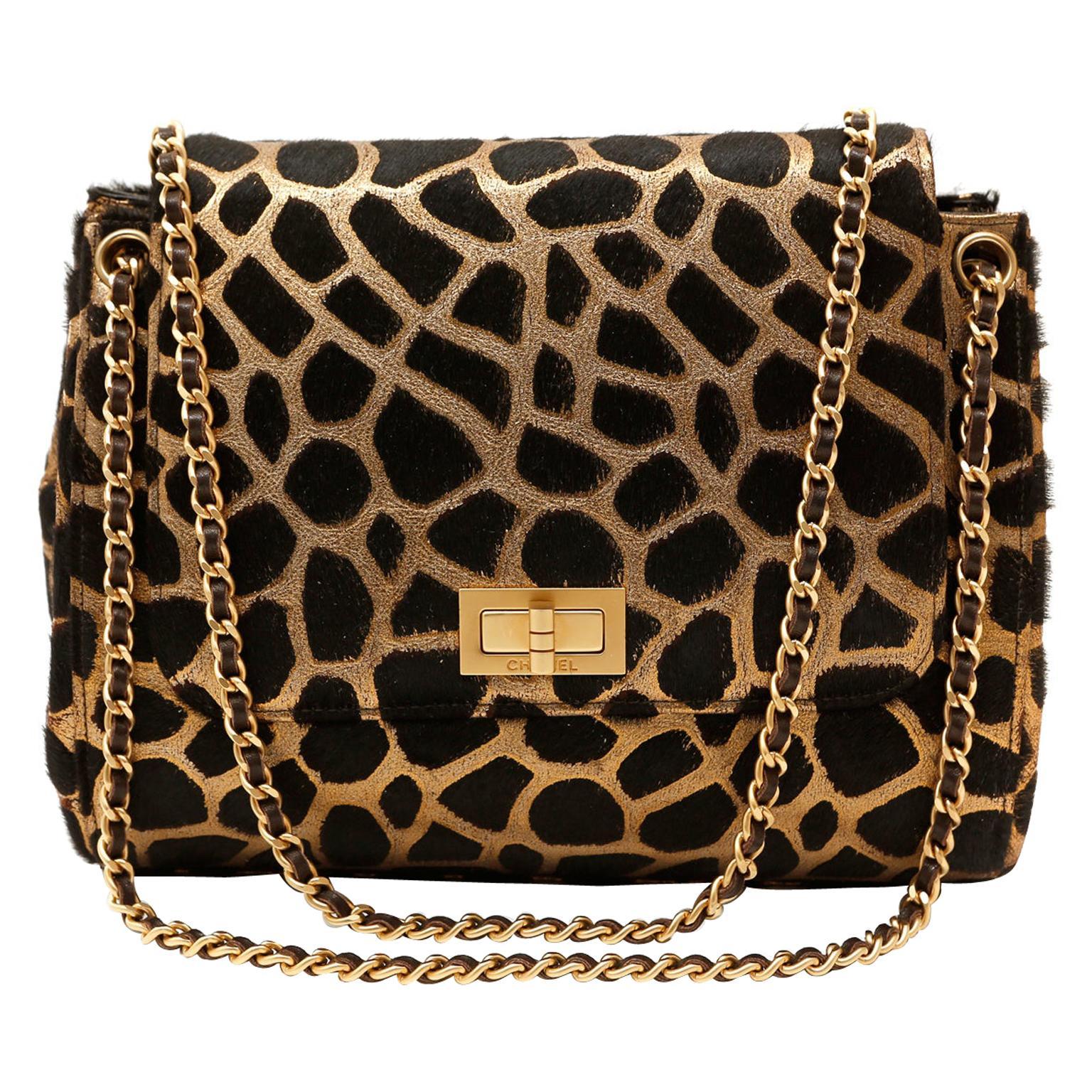 Chanel Giraffe Pattern Calf Hair Flap Bag Ltd. Ed.