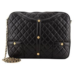 Chanel Girl Clutch on Chain Quilted Lambskin Medium