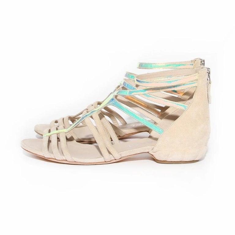 Beige Chanel Gladiator Sandal SS2012 For Sale