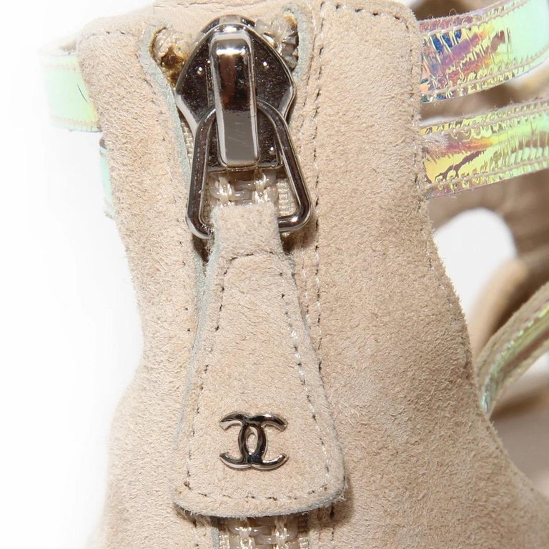 Women's Chanel Gladiator Sandal SS2012 For Sale