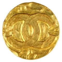 Chanel Gold CC Coin Pin