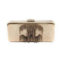 Chanel Gold CC Dripping Chains Box Clutch