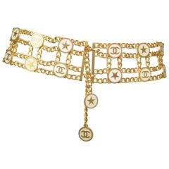 Chanel Gold Chain Belt with Star Motif