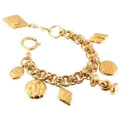 Chanel Gold Charm Vintage Bracelet