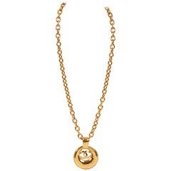 Chanel Gold Door Knocker Pendant Necklace