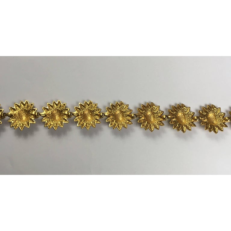 Women's Chanel gold gilded belt, circa 1980 For Sale