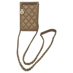 Chanel Gold Iphone Holder Crossbody Bag