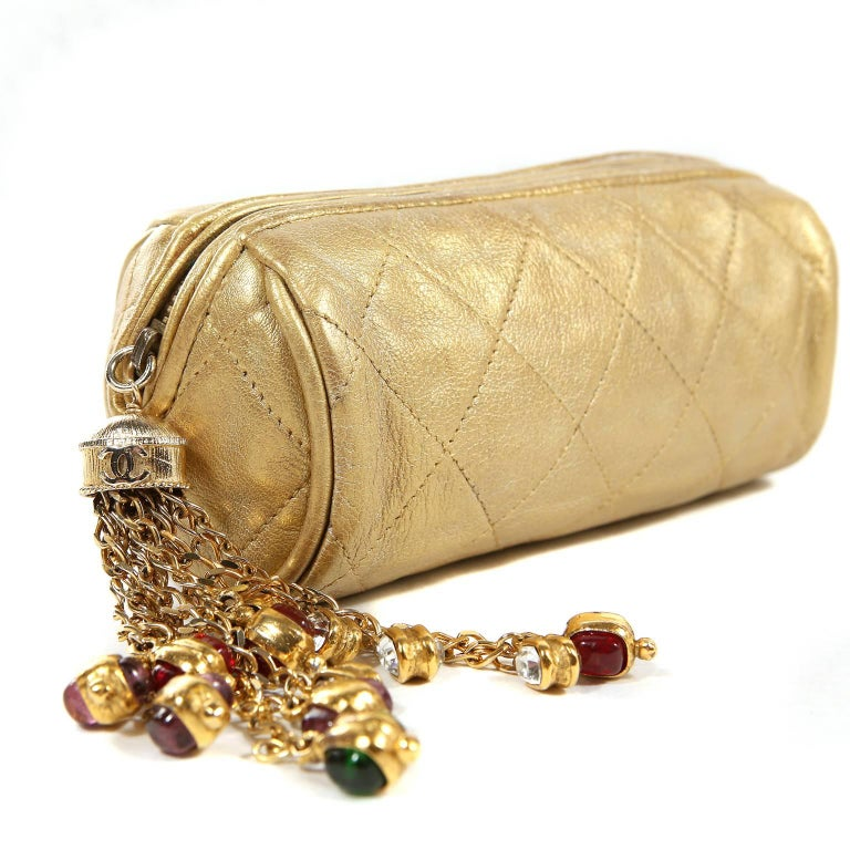 48f4281965ba61 Chanel Gold Gripoix Tassel Evening Bag is in mint condition. An early  vintage piece,